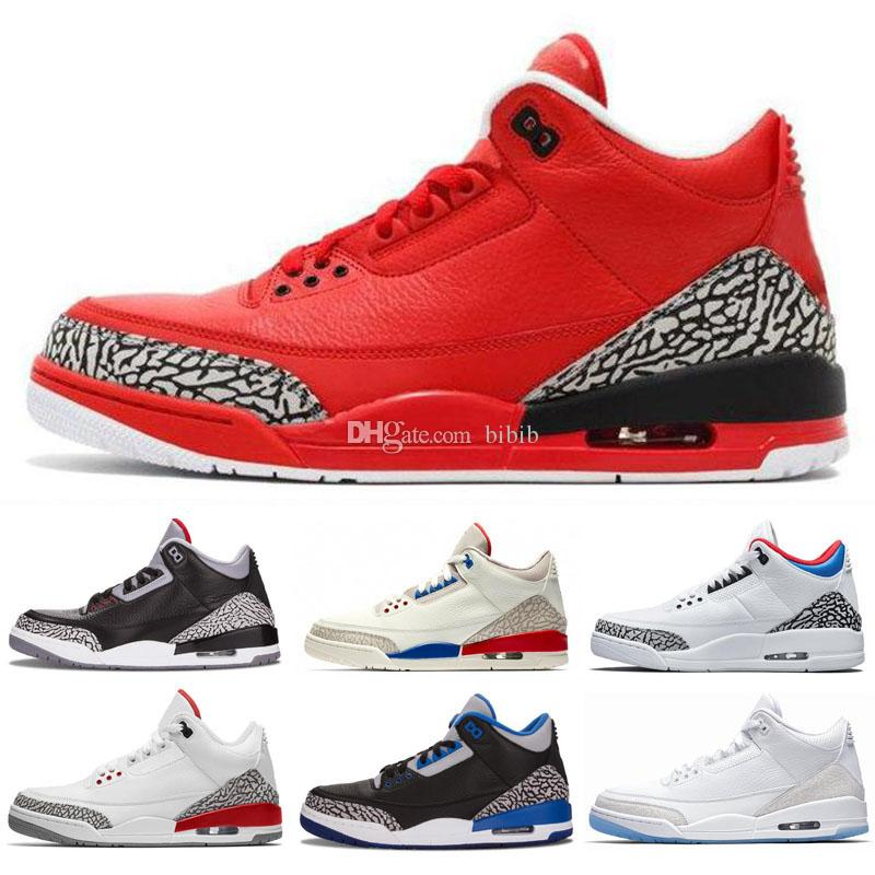 new concept faad2 30d19 Classic Jumpman 3 Mens Kids Basketball Shoes Black Cement White Infrared  Cyber Monday Fire Red Wolf Grey Sport Sneakers Athletics Trainers