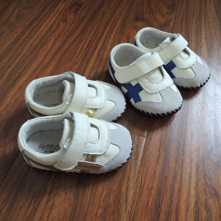 f297e9ff1fa0e Acheter OMN En Cuir Véritable Bébé Garçon Casual Chaussures En Cuir Souple  Semelle D intérieur Bébé Premier Marcheurs Infant Toddler Sport Chaussure  Vente ...