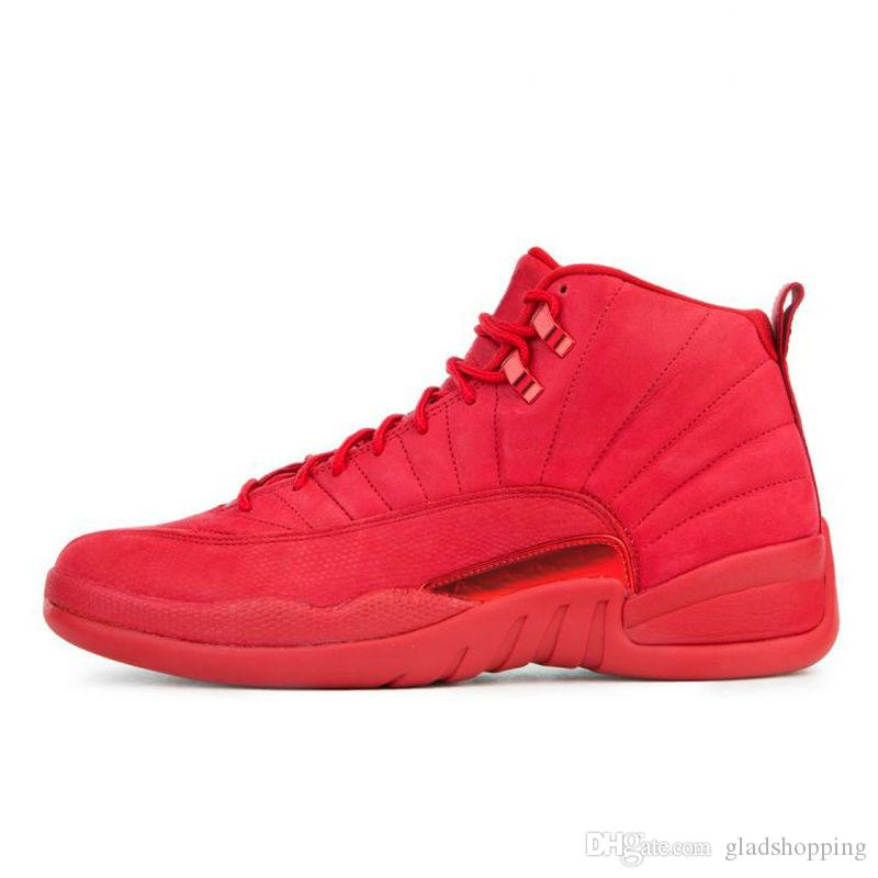 5c762f89f00527 New 2019 12 Bulls Gym Red 130690 601 Men Basketball Shoes Sneakers Hot 12s  All Red October Basket Ball Trainers With Box US8 13 Basketball Shoes Women  ...