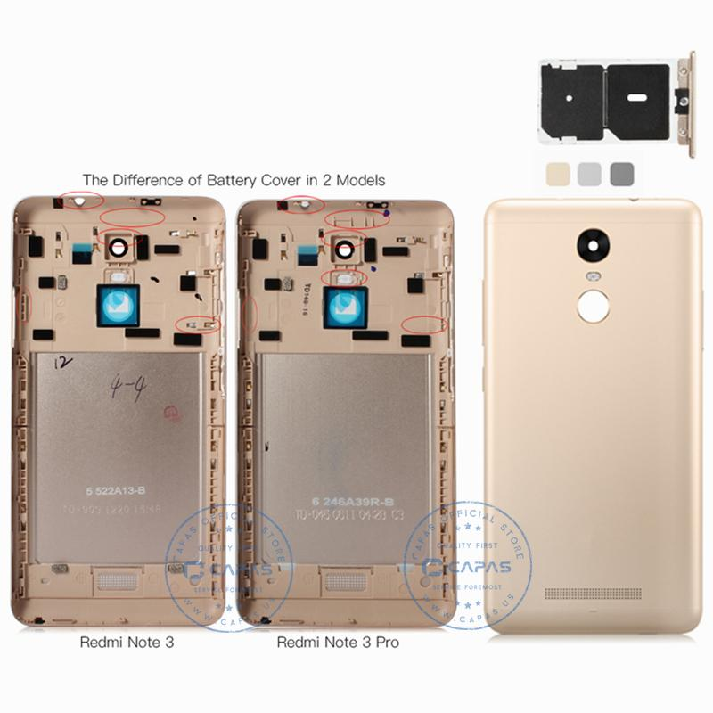 Xiaomi Redmi Note 3 Pro Back Cover Housing Metal + SIM Card Slot Redmi Note3 Pro 150mm Rear Battery Door Replacement Spare