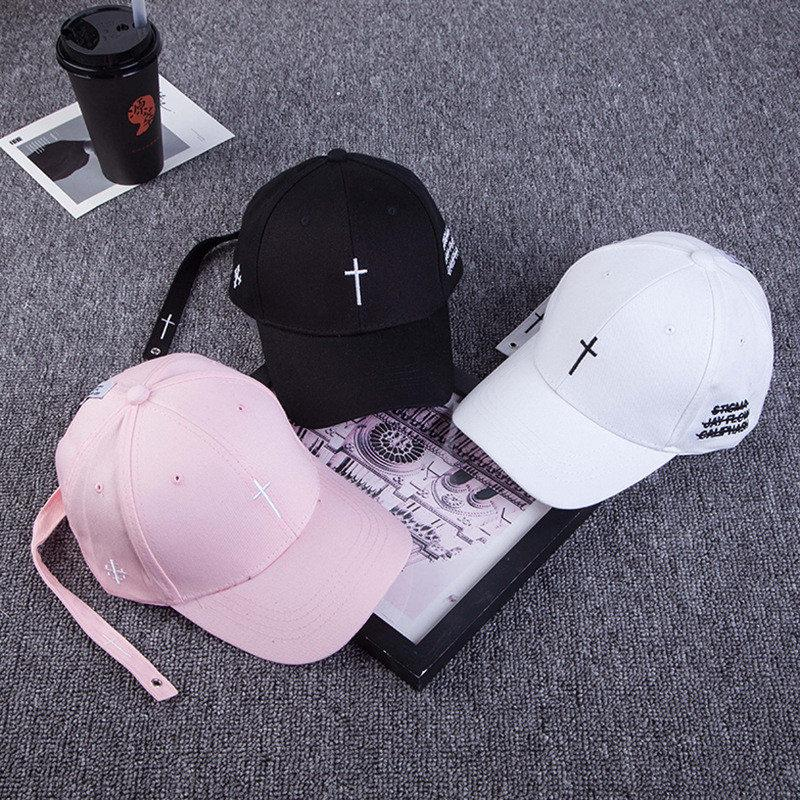 f8dd66ddfe9 Unisex Running Cap Sports Caps Embroidery Cross Letter Snapback Hat ...