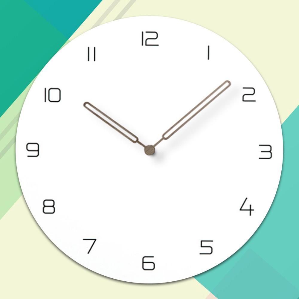 987215640a39 Compre Reloj De Pared De Madera Simple Moderno Nórdico Minimalista  Silencioso Relojes Artístico Europeo Breve Reloj De Pared De Madera  Decoración Para El ...