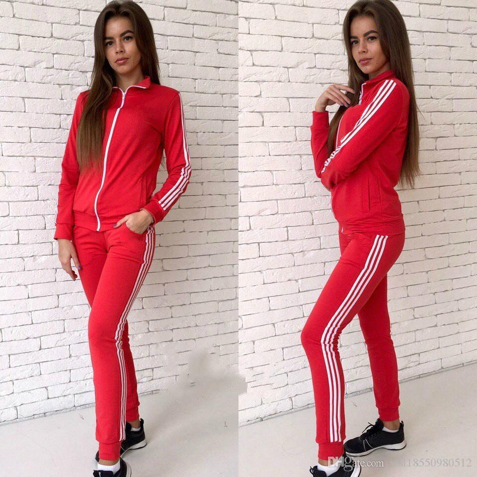 4b19c0042df1 Compre Sportswear Carta Rosa Esportes Terno Mulheres Moletom Com Capuz Set  Treino Treino Casual Camisola + Calça Duas Peças De Wsl18550980512, ...