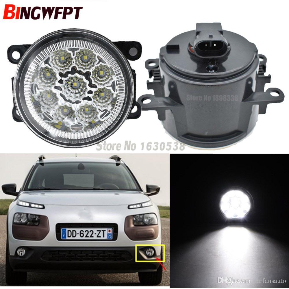 2pcs Fog Lamp Assembly Super Bright LED Fog Light 12V For Citroen C4 CACTUS  2014 2015 2016