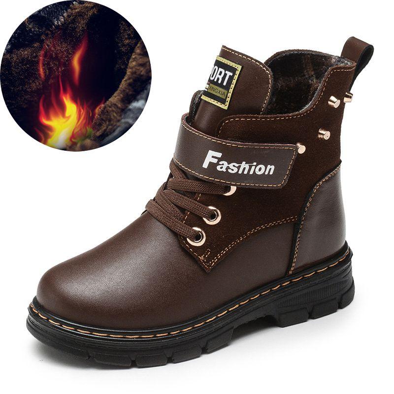 Children Boy Boots 2018 Autumn High Genuine Leather Martin Boots for Boy  Rubber Anti Slip Snow Boots Fashion Zipper Winter Shoes Children Boy Boots  Genuine ... 7cf993fc4eee