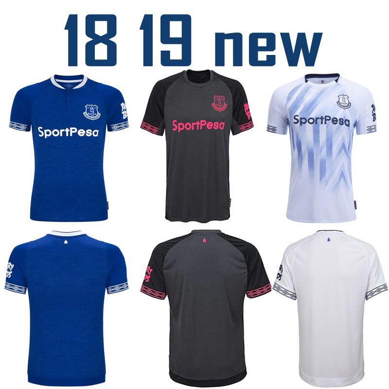 new product 160ee 2ffe6 2018 2019 Everton Jersey Men Soccer home away 3rd third blue black white 3  BAINES 6 JAGIELKA 11 WALCOTT 14 CENK TOSUN 18 19 Football Shirt