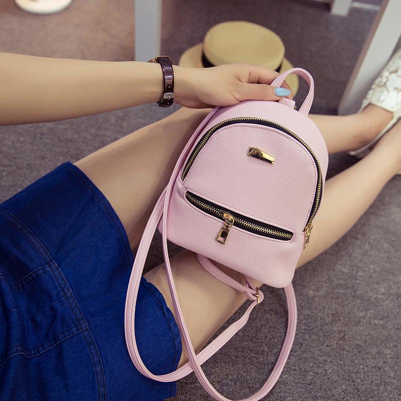3685da6be38b Fashion Women Backpack 2019pu Leather Children Backpacks Mini Backpack  College Wind Small Fresh Sweet Girl High Quality Rucksack