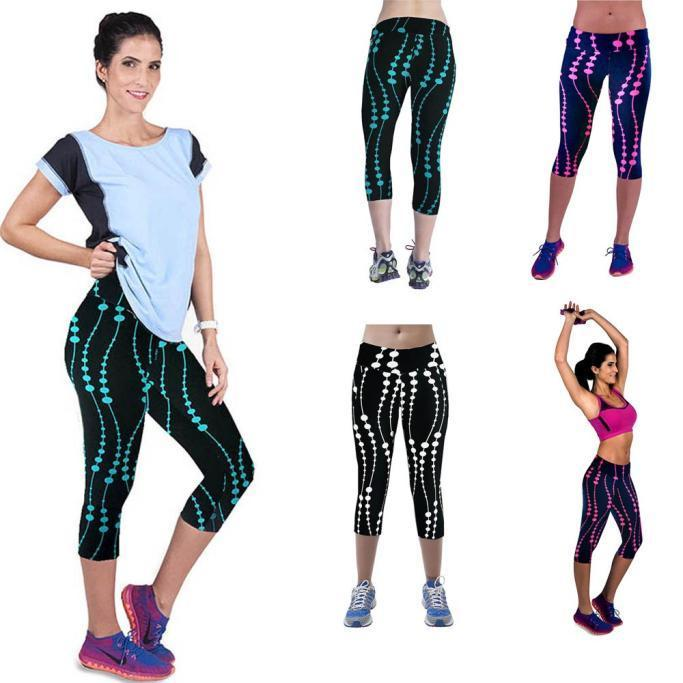 56e6ebab040 2019 Durable Fashion Women Leggings High Waist Fitness Pants Sweatpants  Printed Stretch Plus Size Cropped Leggings Jan19 From Pakis