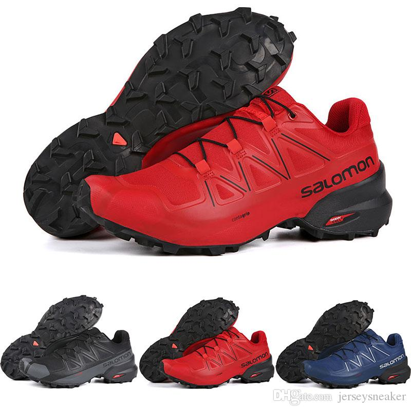 pas mal da49f 9cdf6 Top quality Salomon Speedcross 5 CS Running for Men Black White Grey Blue  Red Trainers Waterproof Athletic Sports Sneakers 7-11.5