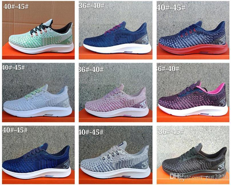cad76c87086a 2019 New Arrivals Air Zoom Shoes X Pegasus 35 Turbo X React P35X Mens Women  Shoes Sneakers Trainers Size 36 45 Munro Shoes Pink Shoes From  Jiulongxieye