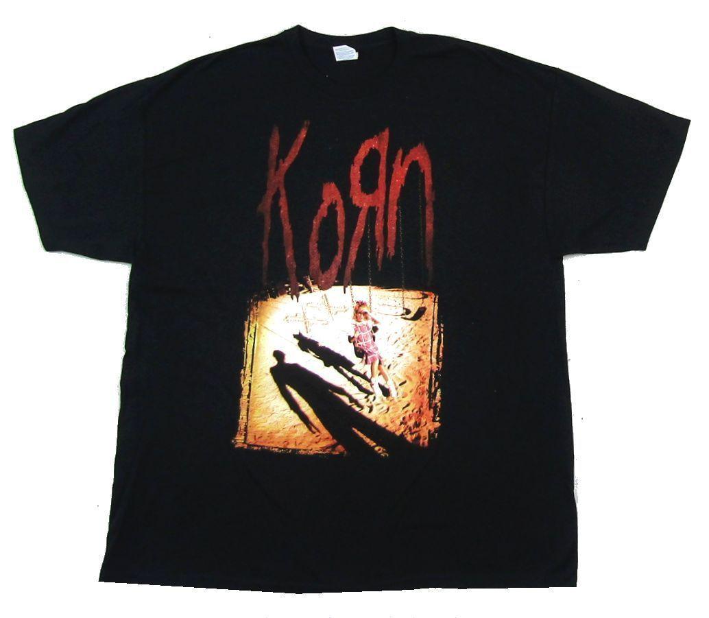 Korn Sandbox Tour Worldwide Black T Shirt New Official Comfortable T Shirt Casual Short Sleeve Print Tees Cheap Wholesale Men's Clothing T-shirts
