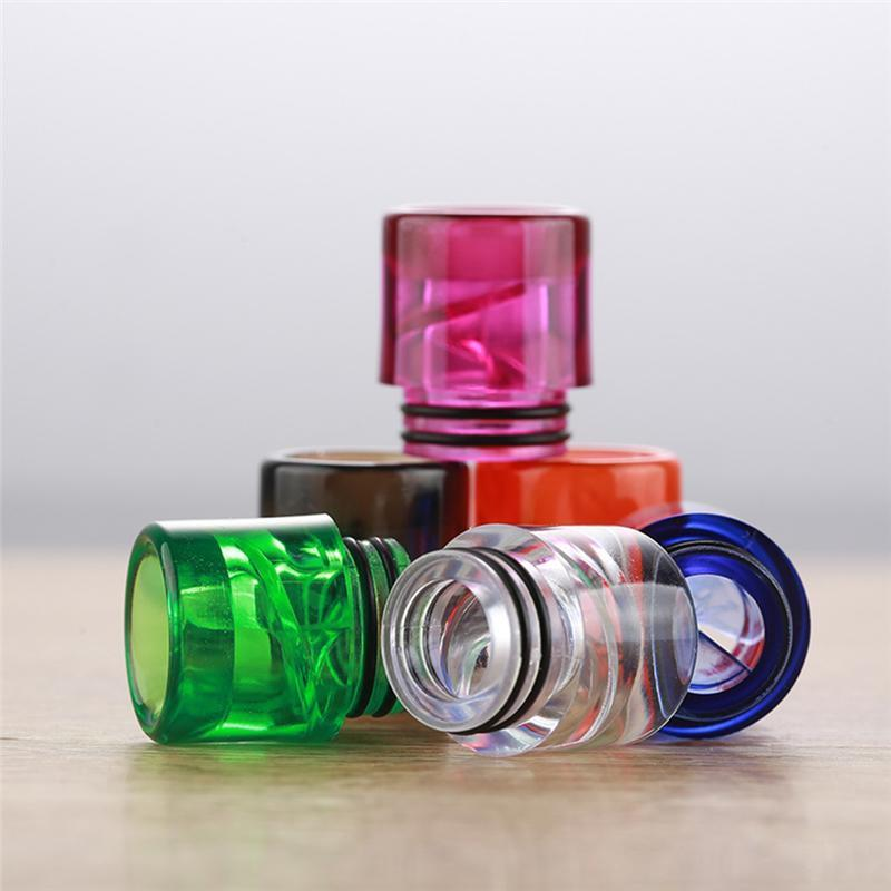 New Nice Colorful 810 Drip Tip Airflow a spirale Bore a bocca larga Bocca Fit Goon 528 Kennedy 24 Battle Apocalypse Pyro TFV8 TFV12 Atomizzatore