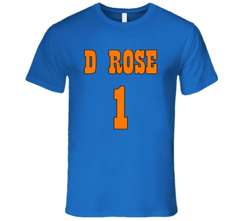 new arrival 441a8 43f0c Derrick Rose New York Knicks, D Rose New York Knicks T ShirtFunny free  shipping Unisex Casual top