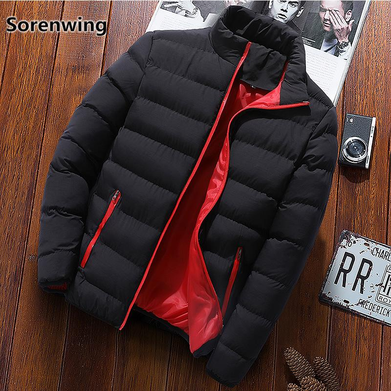 Winter Brand Men Jacket Casual Warm Parka Coat Quality Black Cotton Padded Jackets Men's Windbreakers parkas hombre invierno 244