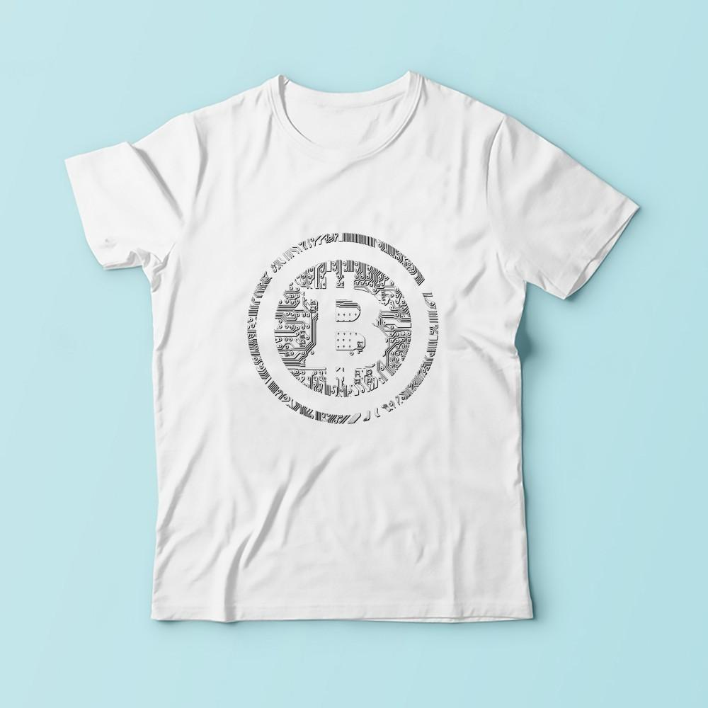 d1372ec16414 Bitcoin Integrated Circuit Board Design T Shirt Men 2019 New White Casual  Soft Tshirt Homme Btc Creative Tee Shirt Online with  30.94 Piece on  Onetozstore s ...