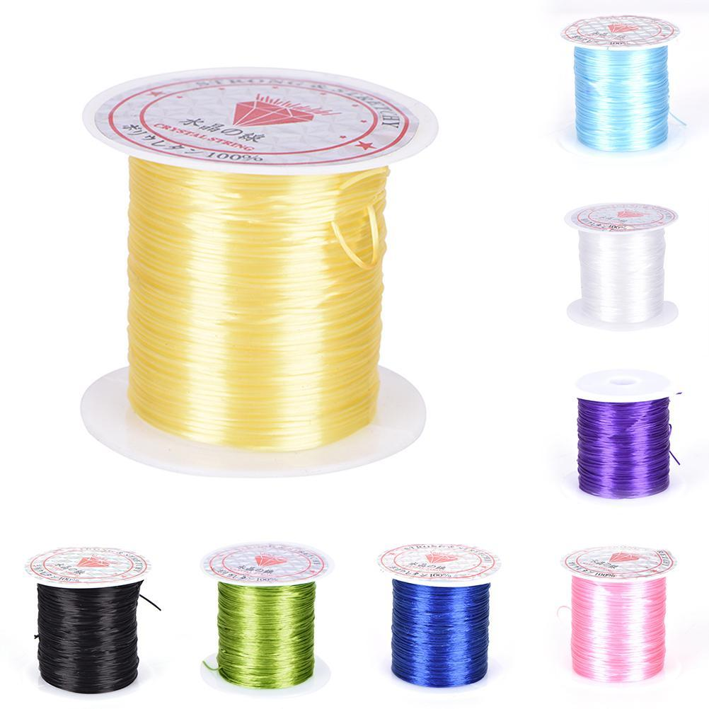 0.8mm Jewelry Making DIY Crystal Beading Stretch Cord Elastic Line Transparent Clear Round Beading Wire/Cord/String/Thread