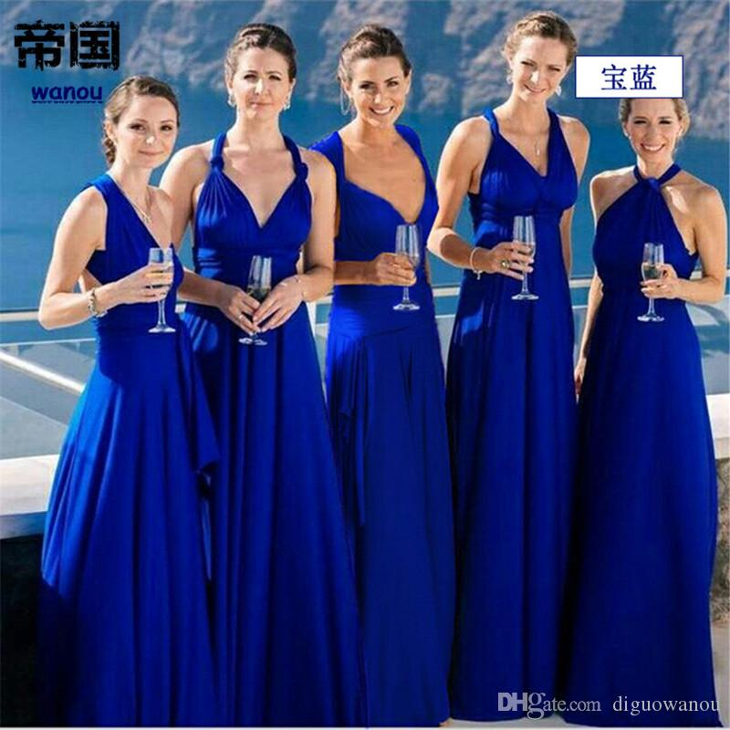 4c9d4e2d8d1 Summer NEW Fashion Maxi Dress Women Royal Blue Elegance Deep V Neck  Sleeveless Bow Knot Party Wedding Evening Long Dress Clubbing Dresses Dress  Sale From ...
