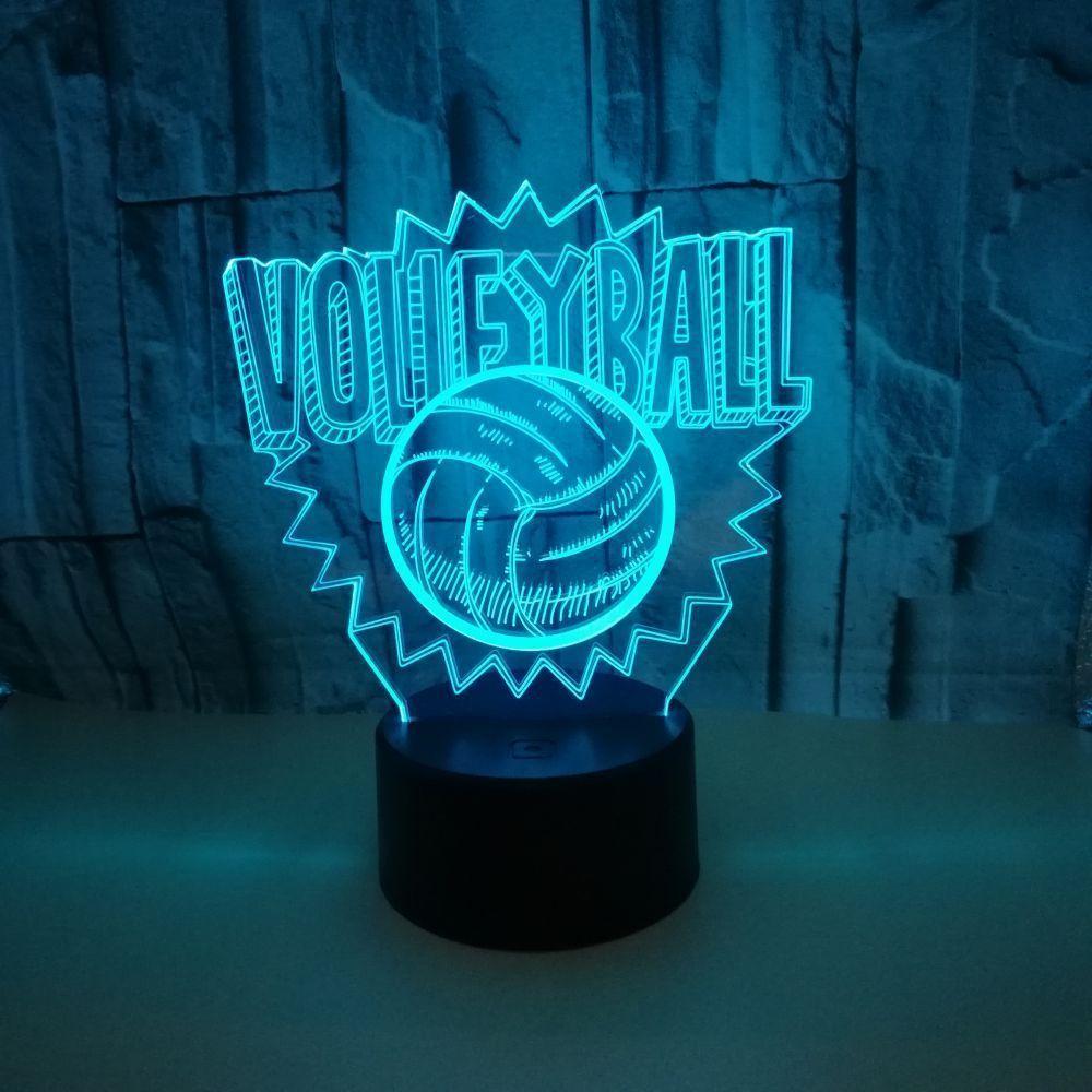 Veilleuse Colorée De Lampe Gradation Volleyball 3d Originalité Petite Led Touch 7 Bureau Amazon Couleur 8vm0ONnw
