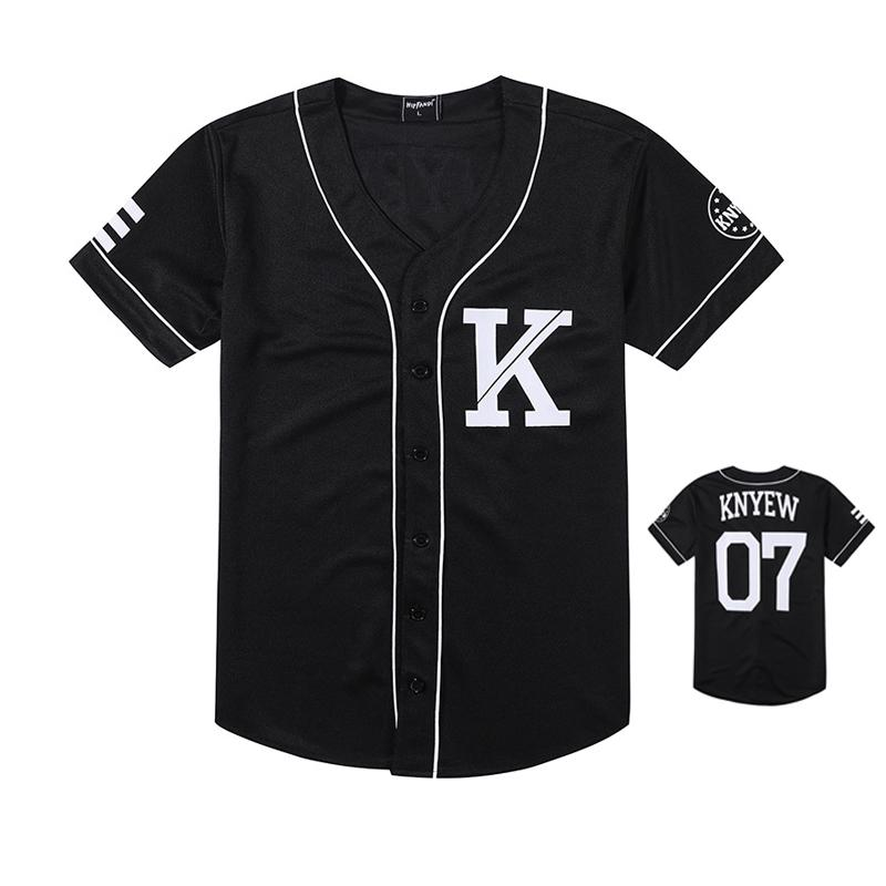 Fashion Men Baseball Jersey Hip Hop Trend Retro College Couple Baseball Striped Half Sleeve Shirt Black White Cotton T-shirts J190612