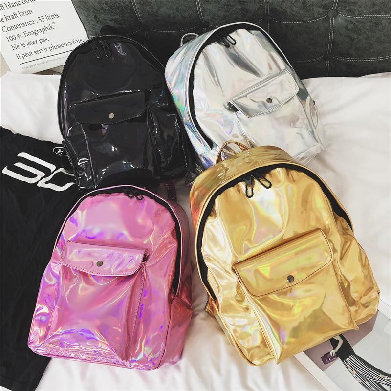 Women Hologram Laser Travel Backpacks Fashion Teenage Girls Shoulder School  Book Bags Woman Travel Waterproof Bag LJJT472 Maternity Party Dress Cute  Cheap ... a98b4a72b9582