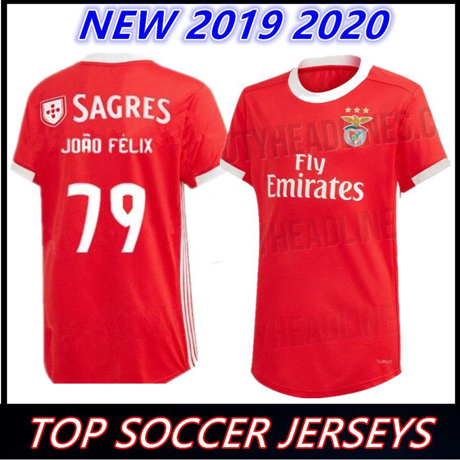 competitive price a2b22 0fd0d 2019 2020 Benfica FC JONAS home RED Soccer JerseyS 19 20 PIZZI away  Maillots de football Salvio KROVINOVIC Football shirt Camisa de futebol