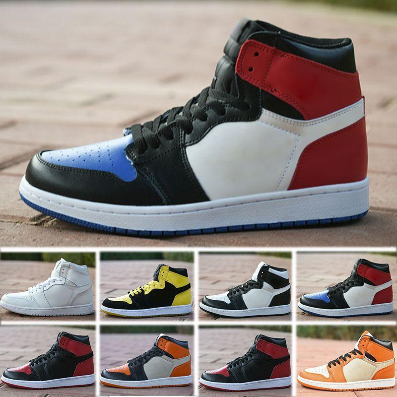 promo code c80a0 529be Großhandel Nike Air Jordan 1 4 6 11 12 13 2018 New Realese Mit Originalbox  Qualität New 1 Chicago Rot Powder Blue UNC Männer Und Frauen  Basketballschuhe ...