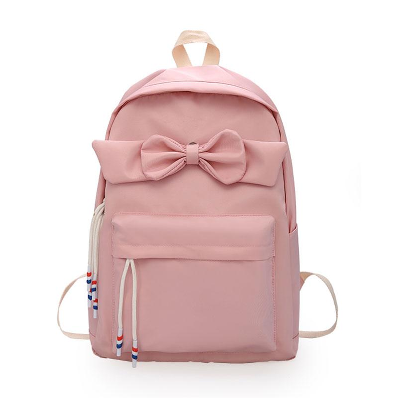 School Bags for Women 2018 Large Capacity Nylon Backpacks With Bow ... fc6fd2ffb98fb
