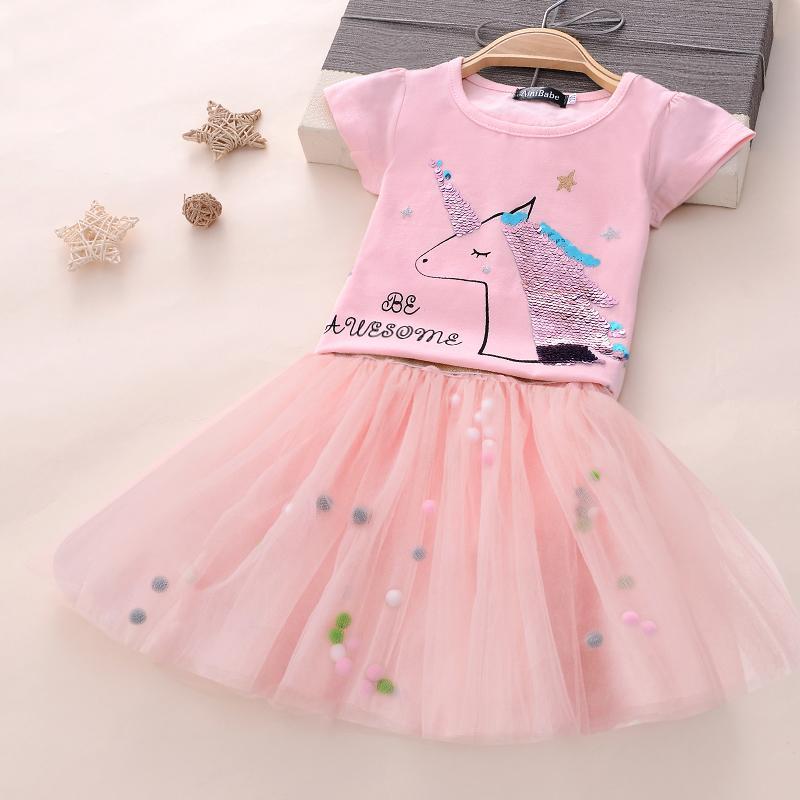 f8e85bc0a69 3-8 años de ropa de niña de lujo disfraz de unicornio para niños niñas  vestido de fiesta para niñas princesa cumpleaños niños trajes