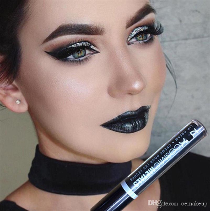 Hot NYX Cosmic Metals Lip Lingerie Liquid Matte Lip Cream Lipstick NYX Charming Brand Makeup Lipsticks Lip Gloss