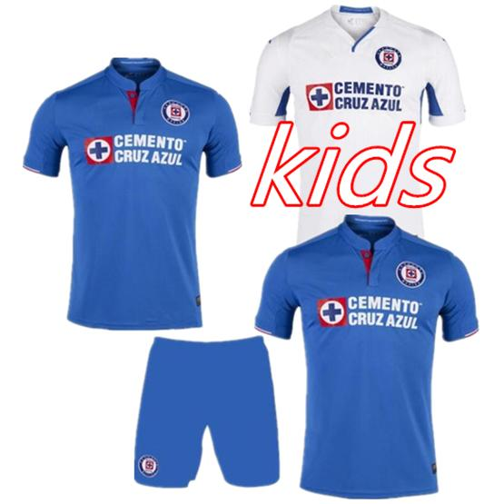 4c9a4558536 2019 Kids Kit 2019 2020 Mexico Club Cruz Azul Liga MX Soccer Jerseys 19 20  Cruz Azul Child Kit Home Football Shirts Camisetas De Futbol From  Football1718, ...