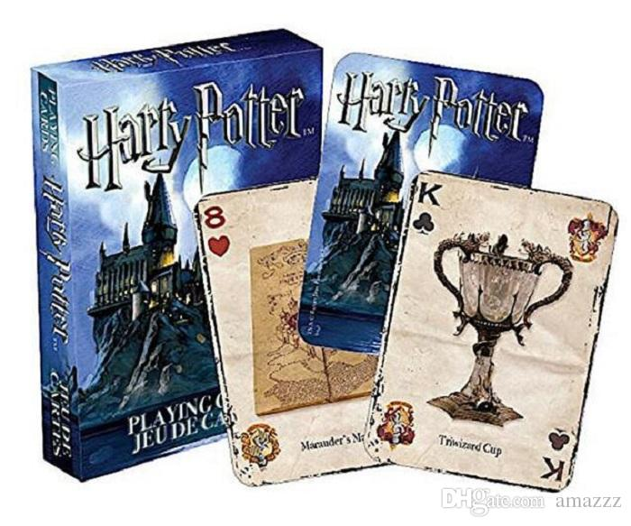 60set 6styles Harry Potter Game Playing Cards Hogwarts House Game of Thrones Mass Effect Poker Waterproof Game Cards Party Favor
