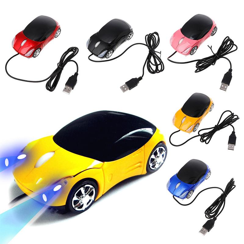 Wired Car Mouse   Mini Mouse Car Shape Usb Optical Wired Mouse Innovative 2 Headlights Gaming 1000dpi For Desktop Computer Laptop Mice Pc