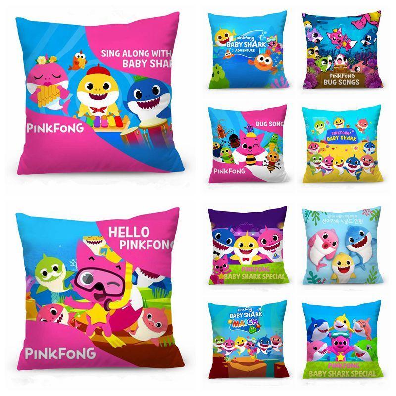 79dfbfeb62e 11 Styles 40*40cm Baby Shark Pillowcase Pinkfong Square Single Side Printed  Pillow Case Sofa Car Cushion Cover Pillowslip CCA11474 30pcs