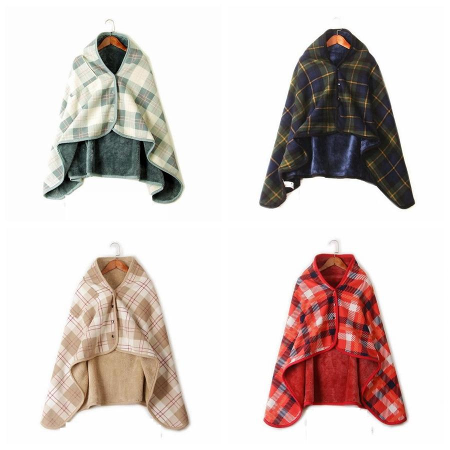 Fashion Woman Plaid Blankets Scarf Soft Check Print Multi-function Shawl Cloak Men Outdoor Winter Warm Cape TTA1835