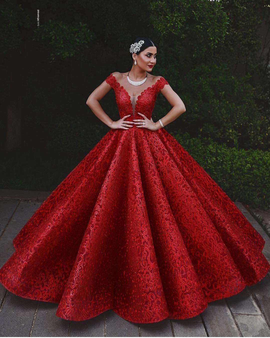 3bab96bfb571f 2019 Glamour Red Puffy Prom Dresses Arabic Off Shoulder Neck Long Evening  Gowns Ruched After Party Look Party Dresses Custom Made Floor Length Prom  Dresses ...