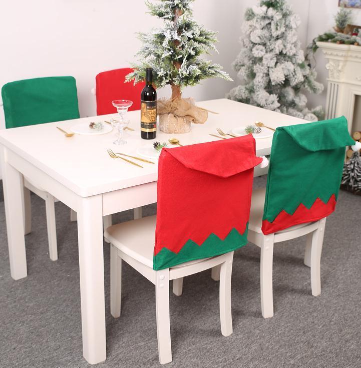 Marque Nouveau Parti Chaise Décoration de Noël Housses de Noël Elf Hat Président Party Decoration Fête Décoration d'intérieur Fournitures Cartoon