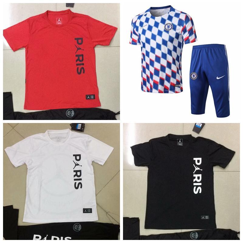 2018-19 Champions League Paris Jordam PSG France FFF Nigeria Portugal Short  Sleeve Marseille SURVETEMENT FOOTBALL TRACKSUIT MAILLOT DE FOOT Online with  ... e0bee0bae