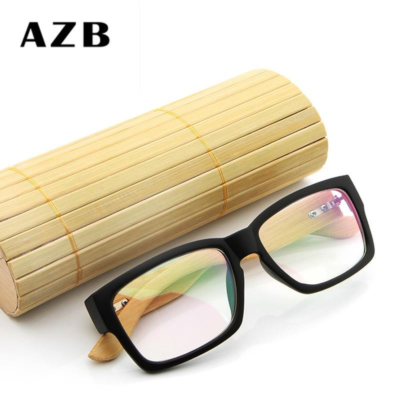 427c194f233 AZB New Pattern Manual Natural Bamboo Wood Mirror Leg Glasses Frame Men And  Women Concise Myopia Spectacle Frame 6823 Online with  2.92 Piece on ...