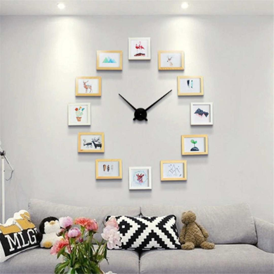 2019 New Diy Wall Clock Modern Design Diy Photo Frame Clock Art