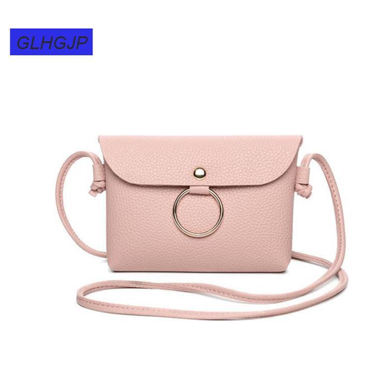 c5fabdd018a9 Cheap Fashion PU Leather Women Mini Messenger Bag Bolso Mujer Vintage  Contracted Soft Girl Handbag Small Circle Shoulder Crossbody Bag Men Bags  Handbag ...