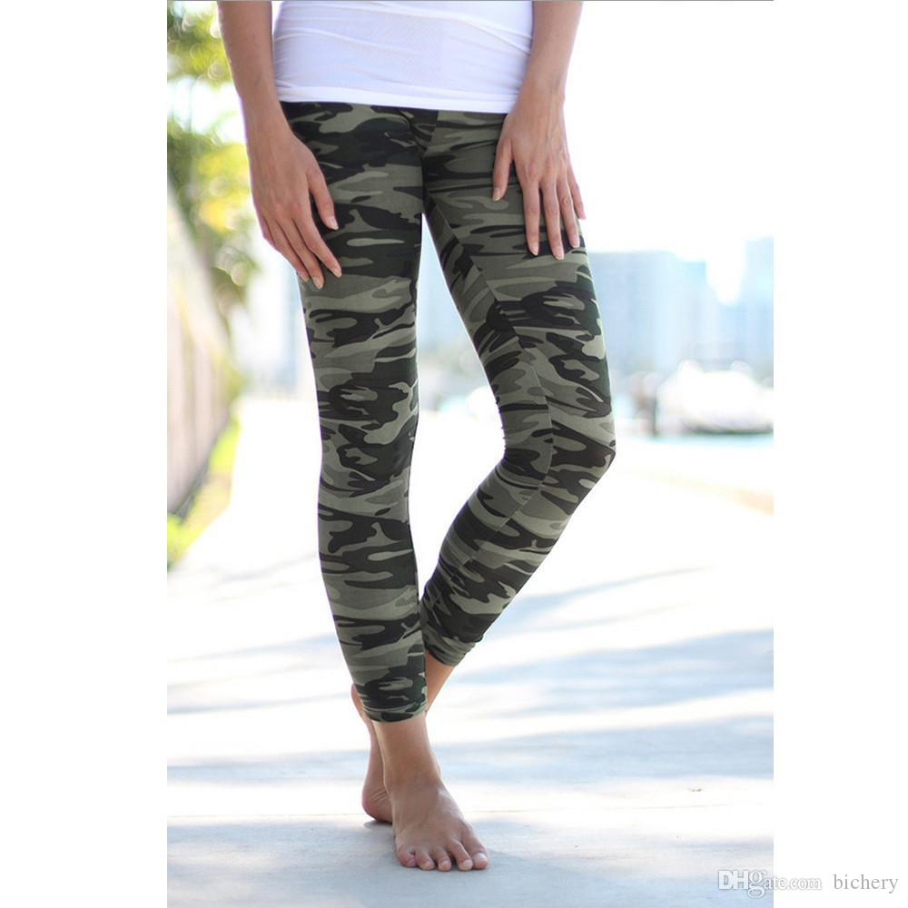 Lady Camouflage print leggings Trouser Army Pants Stretch Leggings for girls Graffiti Style free drop shipping