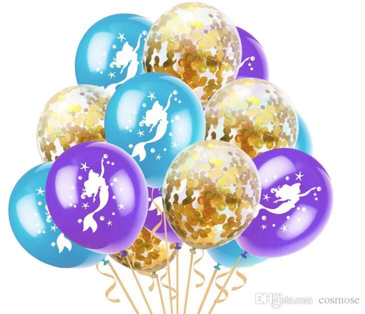 Compre Unicórnio Sereia Balão De Látex Set Confetti Balão De Ouro Colorido  Bonito Dos Desenhos Animados Balões Set Para Decoração De Festa De  Aniversário De ... 10c99b091f508