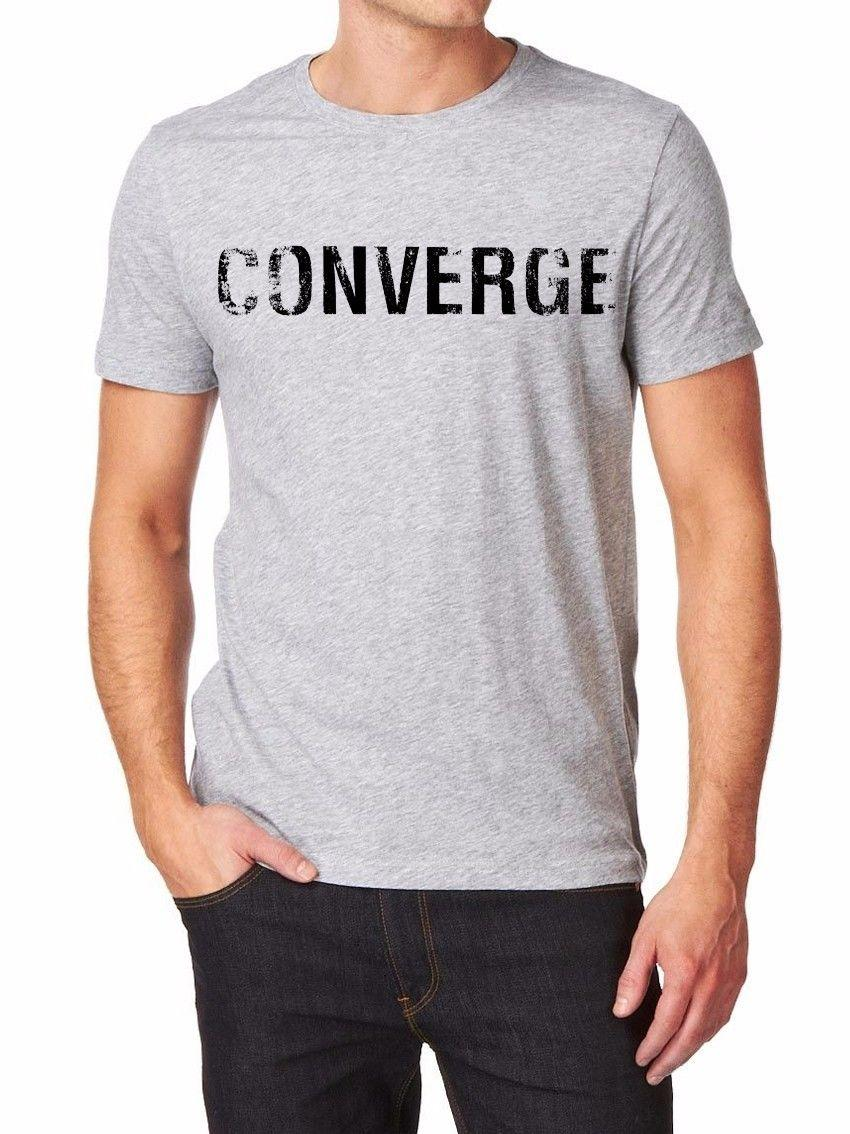 bcf4b39fd4c9 Converge T Shirt Men Shirt Print By EPSON Grey White S XXL Men Women Unisex Fashion  Tshirt Funny Cool Top Tee White Fun Tee Shirts Silly T Shirts From ...