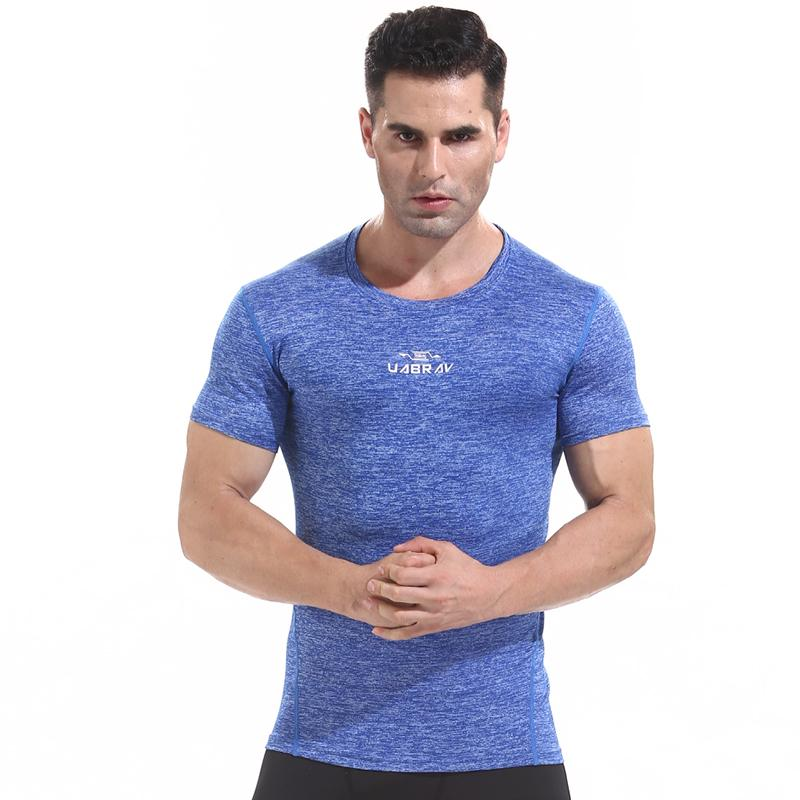 7d2ef04fdb13 2019 W1207 Workout Fitness Men Short Sleeve T Shirt Men Thermal Muscle  Bodybuilding Wear Compression Elastic Slim Exercise Clothing From  Litchiguo, ...