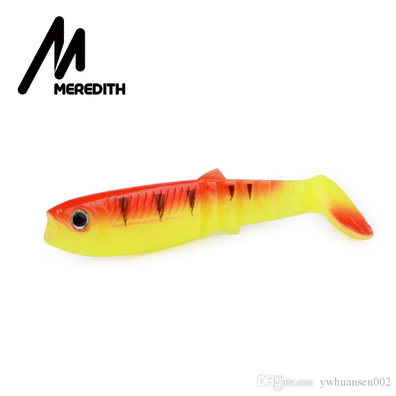 MEREDITH Cannibal Baits 100mm Artificial Soft Fishing Lures Wobblers Fishing Soft Lures Silicone Shad Worm Bass Baits