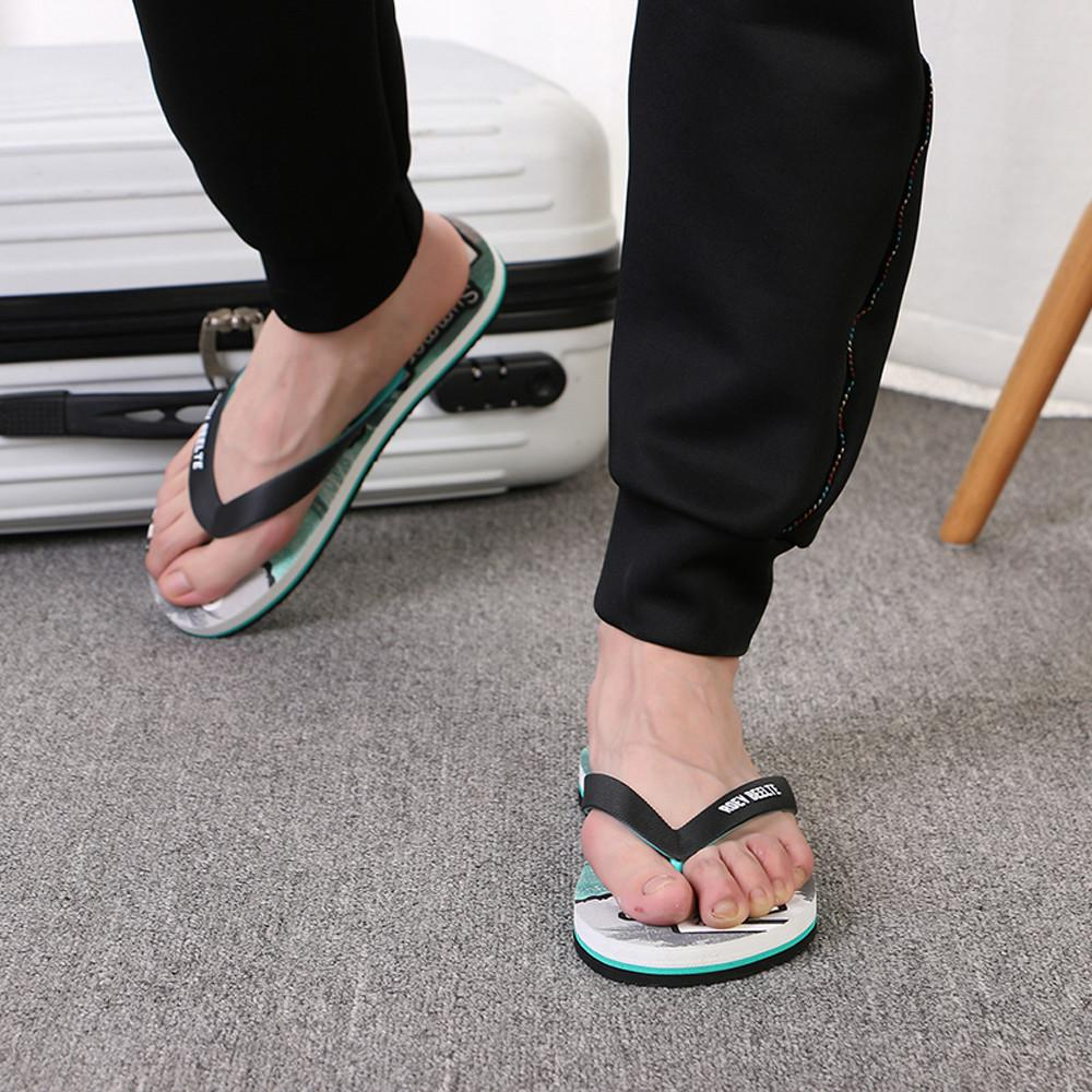 High Quality Men Fashion Outdoors Flat Heel Round Toe Casual Flip Flops Slipper Beach Shoes Home Slippers 40-44 Plus Size 15