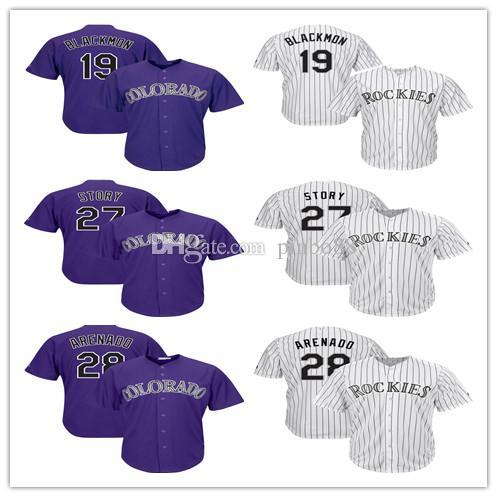 competitive price eb14f e7a11 2019 New Men ColoradoRockies baseball Jersey Nolan 28 Arenado 27 Trevor  Story 19 Charlie Blackmon 100%Embroidery baseball Jersey
