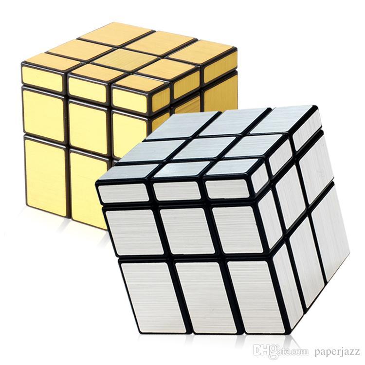 753accf20ada18 Großhandel Spiegel Zauberwürfel Kinder Puzzle Lernspielzeug Magics Cube  Kreatives Geschenk 3 * 3 Rubik Cube Gold Oder Silber Farbe Von Paperjazz,  ...