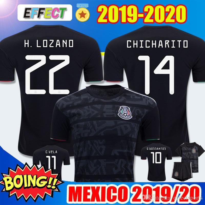 6f029b0ffe3 2019 2019 Mexico Gold Cup Home Black Soccer Jerseys CHICHARITO Camisetas De  Futbol 2020 H.LOZANO VELA RAUL Adult Kids Kit Jersey Football Shirts From  ...