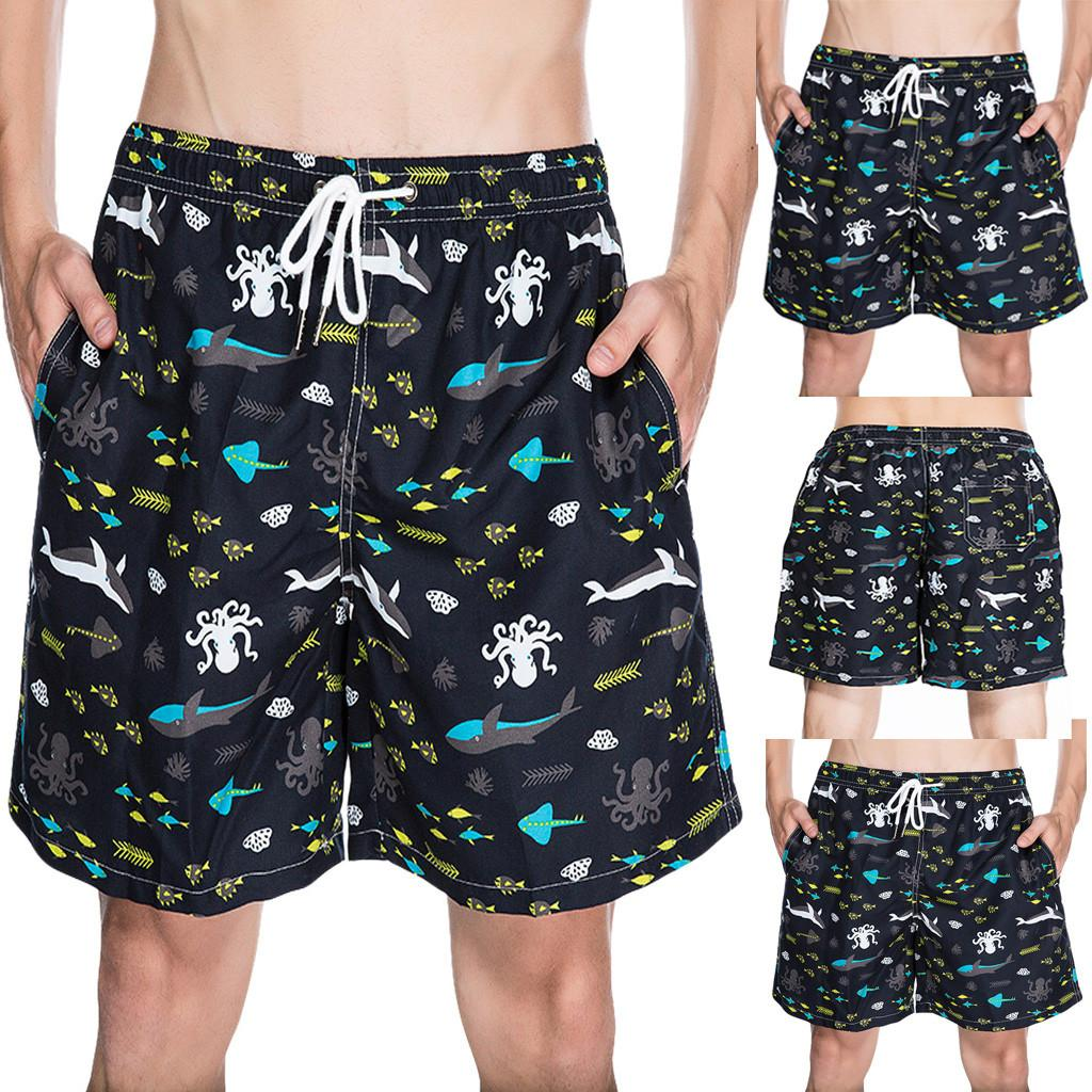 264cbe0f1e 2019 MUQGEW Men Beach Shorts 2019 Print Drawing Men'S Summer Printed Sport Quick  Drying Casual Loose Beach Shorts#G4 From Weilad, $43.56 | DHgate.Com